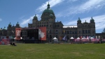 The B.C. legislature building in downtown Victoria is pictured on Canada Day in 2017: (CTV News)