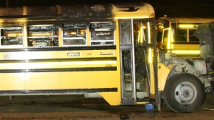 School bus fire in Harriston is being treated as suspicious. (June 1, 2017)