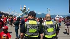 Police presence at Canada 150 events