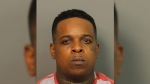 This Sunday, July 2, 2017 photo provided by the Jefferson County Sheriff shows Ricky Hampton, also known as Finese2Tymes, who was arrested in Alabama, a day after a shooting at one of his concerts in Little Rock, Ark., the U.S. Marshal Service said. (Jefferson County Sheriff via AP)