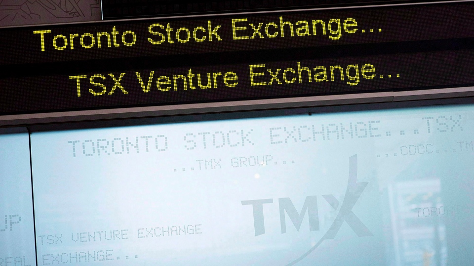 The Toronto Stock Exchange Broadcast Centre is pictured in Toronto on June 28, 2013. (THE CANADIAN PRESS/Aaron Vincent Elkaim)