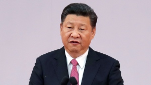 In this Saturday, July 1, 2017, file photo, Chinese President Xi Jinping speaks after administering the oath for the Hong Kong's new Chief Executive Carrie Lam at the Hong Kong Convention and Exhibition Center in Hong Kong. (AP Photo/Kin Cheung, File)