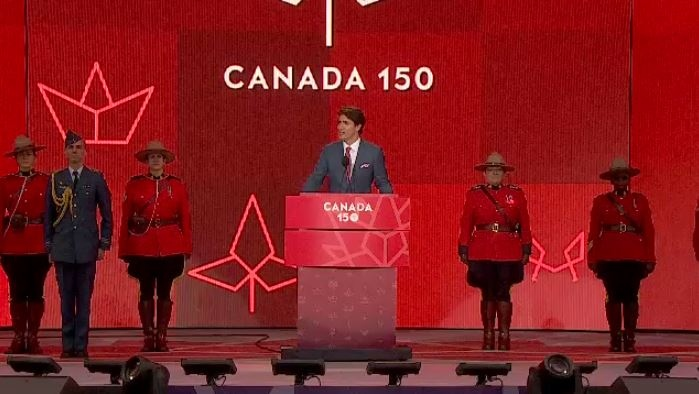 Justin Trudeau mentioned every province and territory at his Canada Day speech on Saturday, except for Alberta.