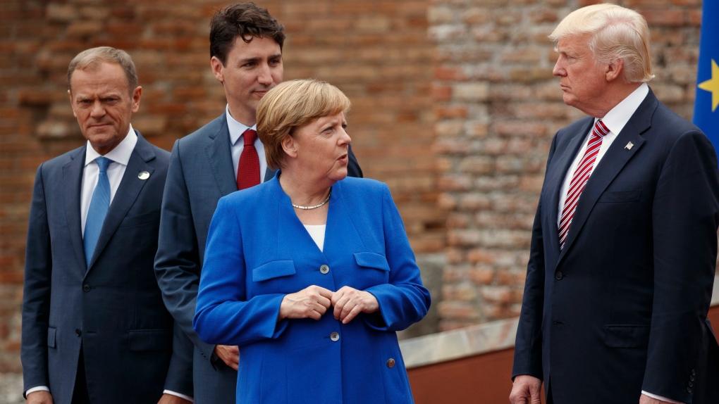 Trump, Merkel, Trudeau, Tusk