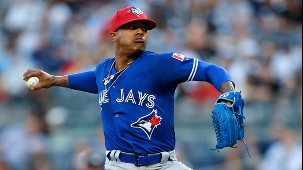 9ab66c13286 Blue Jays RHP Marcus Stroman points blistering finger at MLB