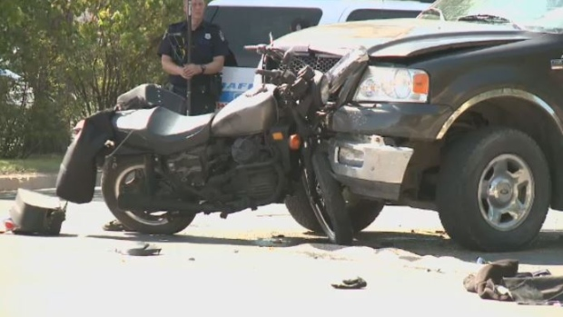 Motorcycle crash in Regina