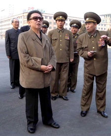 In this undated photo released on Sunday, April 5, 2009, by Korean Central News Agency via Korea News Service, North Korean leader Kim Jong Il inspects a theater in Pyongyang. (AP Photo/Korean Central News Agency via Korea News Service)