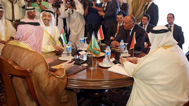 Arab countries isolating Qatar meeting
