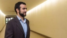 Omar Khadr leaves court after a judge ruled to relax bail conditions in Edmonton on Sept. 18, 2015. (THE CANADIAN PRESS/Amber Bracken)