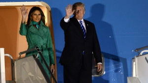 President Trump and the first lady Melania Trump