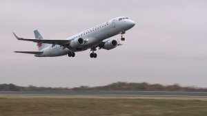 An Air Canada plane takes off from the Ottawa Macdonald-Cartier Airport. The main runway at the airport is closed until the end of the summer, meaning some residents are going to see and hear a lot more air traffic. (FILE)