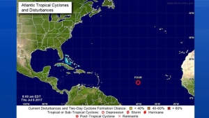 Here is the location of TD #4 as of 9am local time