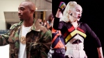 Tupac Shakur, left, and Madonna are seen in this composite image. (AP)