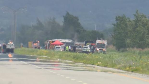 Gas leak causes major disruptions in Saint-Basile-le-Grand - CTV News
