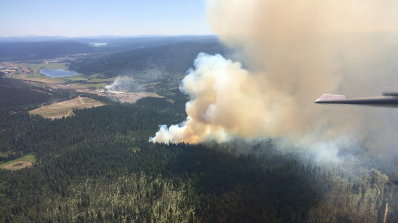BC Wildfire Service posted this photo of a fire near 100 Mile House, B.C. on Thursday, July 6, 2017.