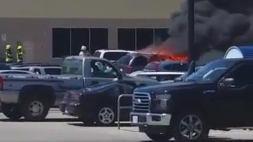 Car fire, Smiths Falls,