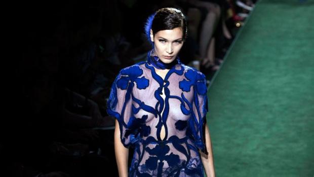 Bella Hadid for Fendi's Haute Couture
