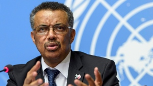 A Wednesday, May 24, 2017 file photo showing Tedros Adhanom Ghebreyesus, director general of the World Health Organization (WHO), answering questions from journalists at the European headquarters of the United Nations in Geneva, Switzerland. (Martial Trezzini/Keystone via AP, File)