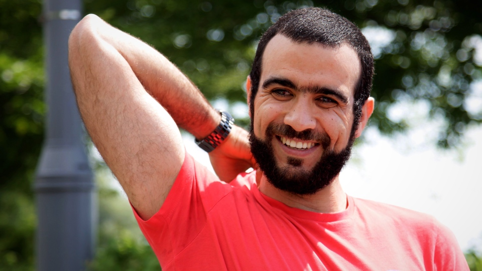 Former Guantanamo Bay prisoner Omar Khadr, 30, is seen in Mississauga, Ont., on Thursday, July 6, 2017. The federal government has paid Khadr $10.5 million and apologized to him for violating his rights during his long ordeal after capture by American forces in Afghanistan in July 2002. (Colin Perkel / THE CANADIAN PRESS)