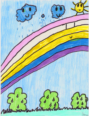 Weather art by Shree, age 8.