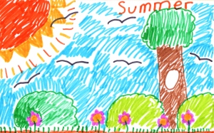Weather art by Annie, age 8, from St. Helen Elementary School.