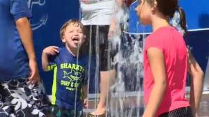 Calgary heat wave splash park