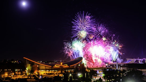 Fireworks over Stampede Park on Friday, July 7, 2017  (image courtesy: Afrah Baha'a/MyNews)