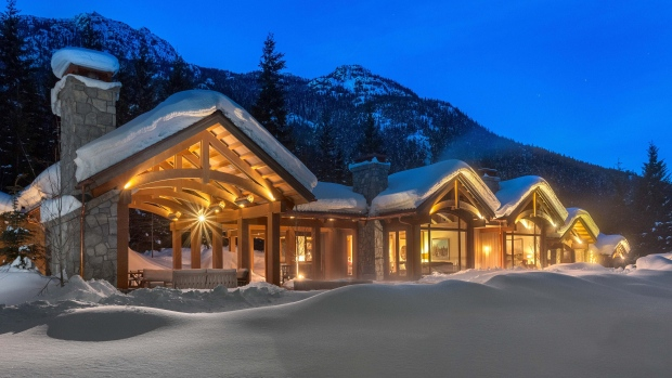 A secluded mansion with views of Whistler and Blackcomb Mountain has just tied the record for the most expensive luxury property ever sold in the B.C. resort town. The 5.5-acre property, which features a guest house, separate staff residence, heated infinity pool and 1,850-square-feet of outdoor entertaining space, sold for $17.5-million. (John Ryan/realestateinwhistler.com)