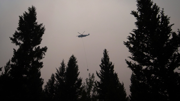 wildfire near 100 Mile House, B.C