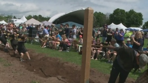The tug-of-war has quickly become a popular event at the Antigonish Highland Games.