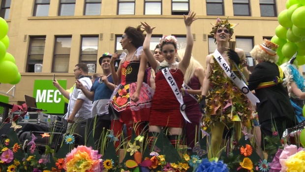 Glitz, glamour and a shared love of diversity flooded downtown Victoria on Sunday for the city's Pride parade. July 9, 2017 (CTV Vancouver Island)