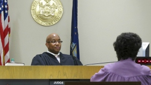 City Court Judge Craig Hannah presides at Opiate Crisis Intervention Court in Buffalo, N.Y. on June 20, 2017. (AP / Carolyn Thompson)