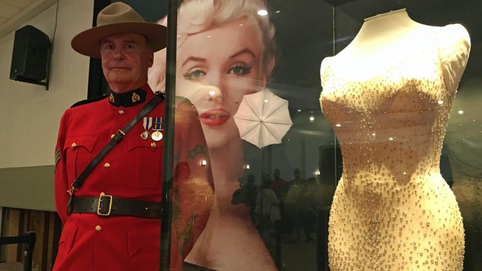 Marilyn Monroe dress on display in Luseland