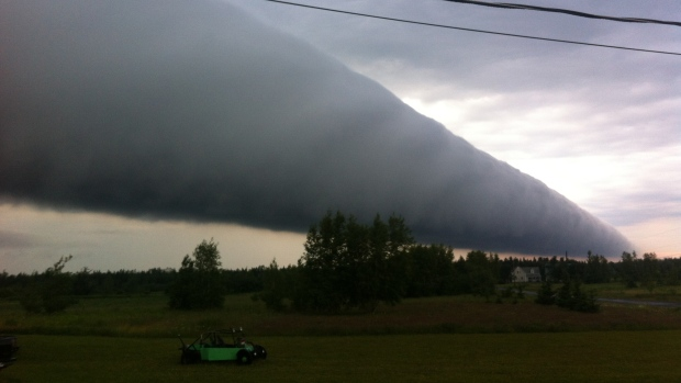 roll cloud July 11th Rogersville NB