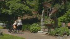 Veterans' memorial garden