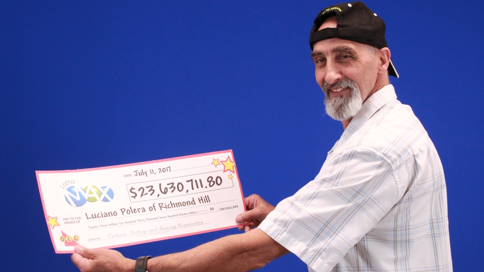Luciano Polera, 64, bought a Lotto Max ticket on Friday, a tradition he's had for 40 years. On Saturday, he found out he won $23.6 million.