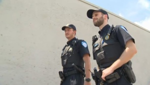 Montreal police officer Rafael Beaulieu saved a woman from drowning in her car on Saturday July 8, 2017