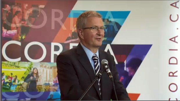Concordia University President Alan Shepard announced $52.75 million in investment for the school's centre for innovation and entrepreneurship on July 11, 2017.