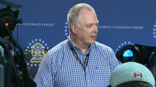Calgary Police Chief Roger Chaffin speaks to the media on Tuesday, July 11, 2017.