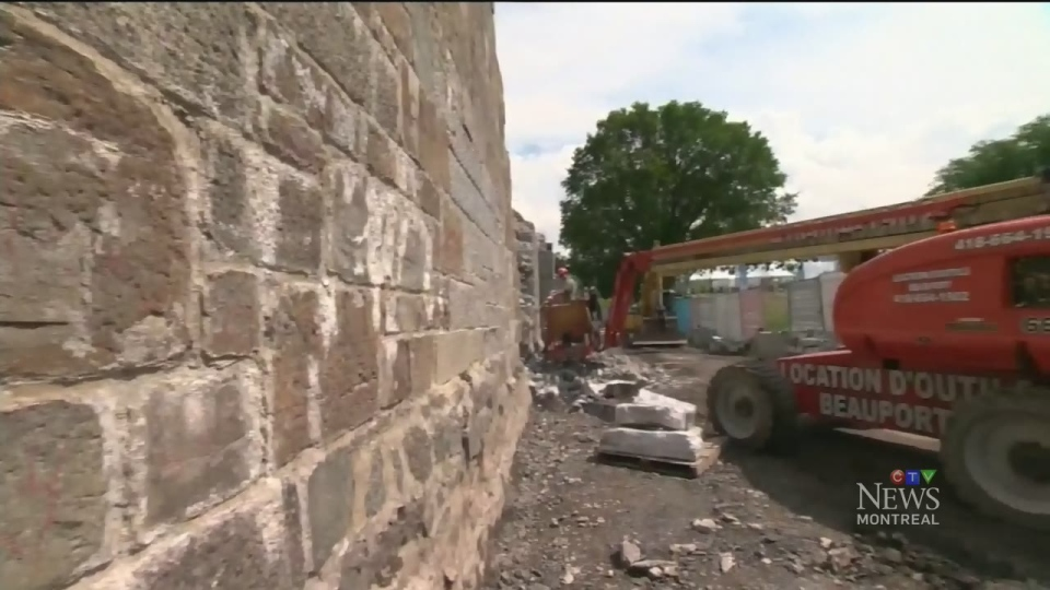 Not even the centuries-old walls of Quebec City are immune to construction projects (July 11, 2017)