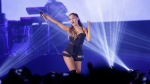 Ariana Grande performs during the honeymoon tour concert in Jakarta, Indonesia on Aug. 26, 2015. (Achmad Ibrahim/AP)