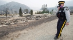 The area of Boston Flats, B.C. is pictured Tuesday, July 11, 2017 after a wildfire ripped through the area earlier in the week. THE CANADIAN PRESS/Jonathan Hayward