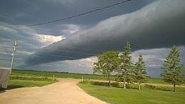 Josh Clark posted this photo of a roll cloud taken in the Winnipeg area on July 5th.