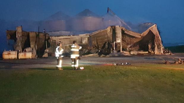 Pigram Road barn fire