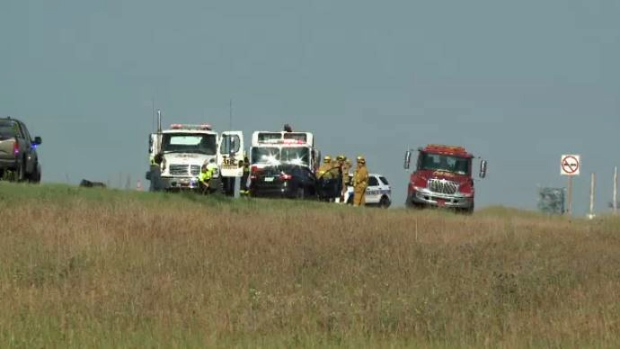 Crash on Highway 46 near Regina