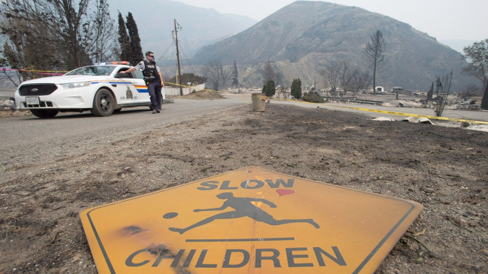 The area of Boston Flats, B.C. is pictured Tuesday, July 11, 2017 after a wildfire ripped through the area earlier in the week. (Jonathan Hayward / THE CANADIAN PRESS)