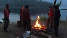 The B.C. Wildfire Service is investigating pictures posted to social media that appear to show firefighters breaking the province's campfire ban. July 11, 2017.