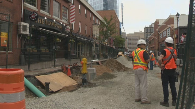 Some businesses on Argyle Street in Halifax are struggling to remain open due to ongoing construction.