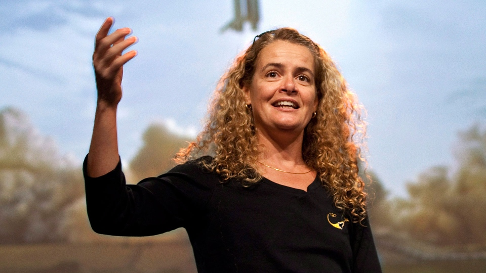 Canadian astronaut Julie Payette in Longueuil, Quebec in 2009.  (THE CANADIAN PRESS/Paul Chiasson)