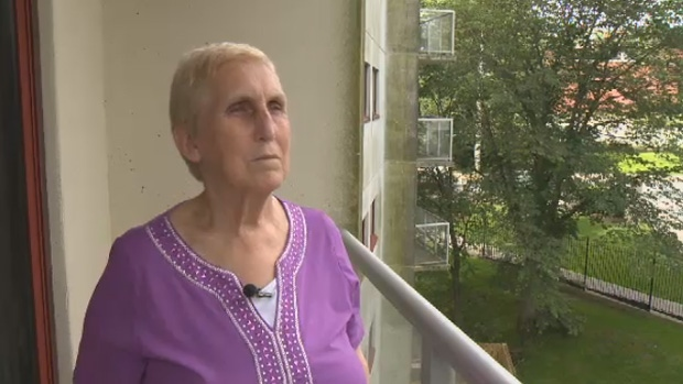 Judy Howe, 70, says she can no longer take the smell of marijuana that lingers through her Halifax apartment complex.